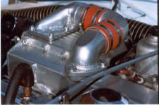 HP Supercharger Kit for Triumph TR4 - Intake Image copyright (c) 2011.