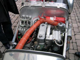 HP Supercharged Lotus Seven engine Image copyright (c) 2011.