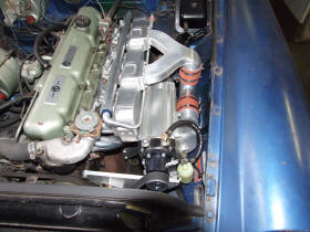 HP Supercharger fitted to MG C GT Image copyright (c) 2011.