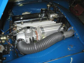 HP Supercharger on Triumph TR3 Image copyright (c) 2011.